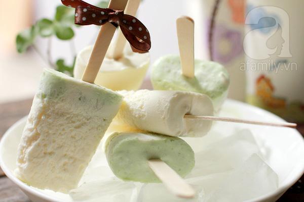 Tự làm kem cốm dừa long nhãn cực ngon cho mùa hè