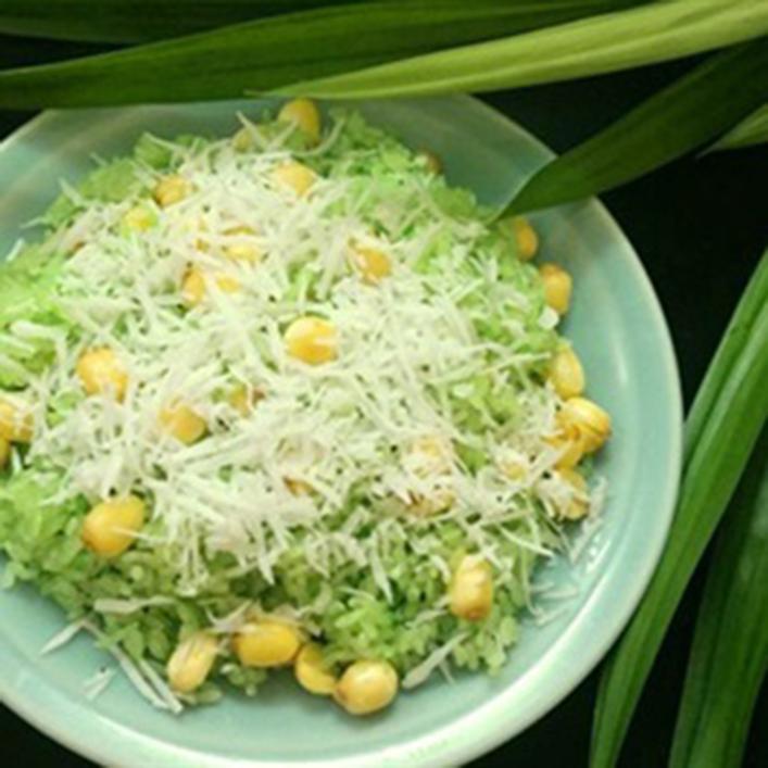 Cách nấu xôi lá dứa hạt sen ngon cho bữa sáng-1