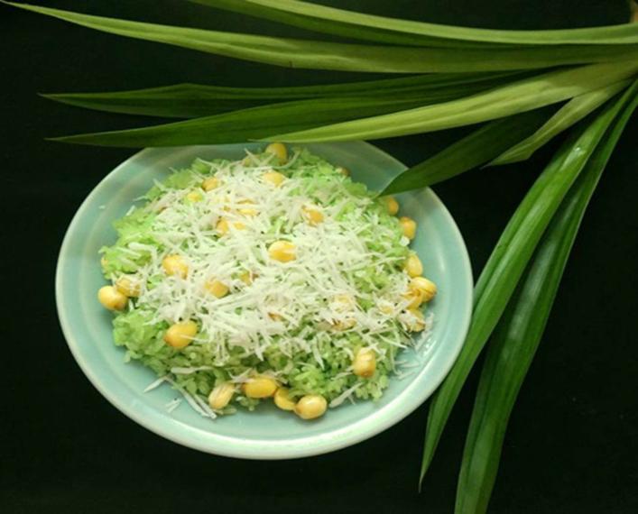 Cách nấu xôi lá dứa hạt sen ngon cho bữa sáng