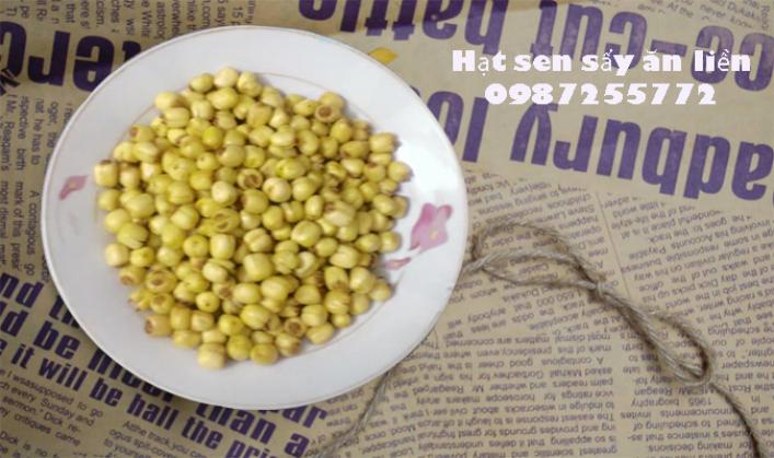 hạt sen sấy khô ăn liền