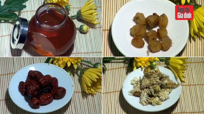 Cách pha trà long nhãn hoa cúc làm đẹp da