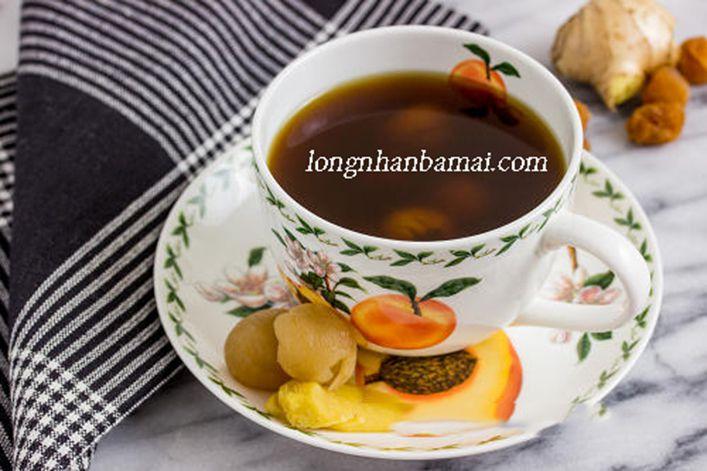 Làm ấm cơ thể với trà gừng và nhãn nhục