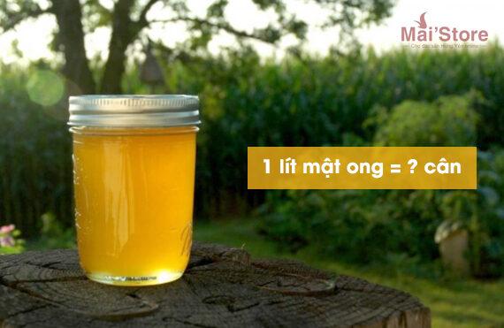 1 lit mat ong bang bao nhieu can